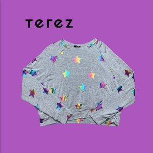 Terez Rainbow Stars Crewneck Sweater Size XS